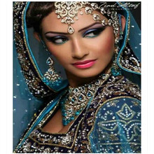 30*40CM Indian Beauty Girl woman 5D DIY Diamond Painting Cross stitch embroidery Of Diamonds Mosaic for Living Bed Room Decor