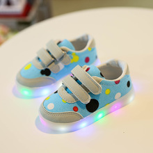 The Spring of 2017 The New Children's Shoes Men's Shoes Shine Led Shoes Led Recreational Canvas Shoes of The Girls(China)