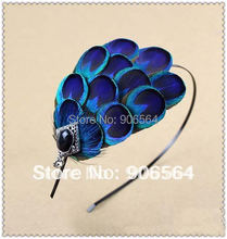 Free shipping whole sale and retail the fashion 2 IN1 feather headband  fascinator hats 3pcs/lot