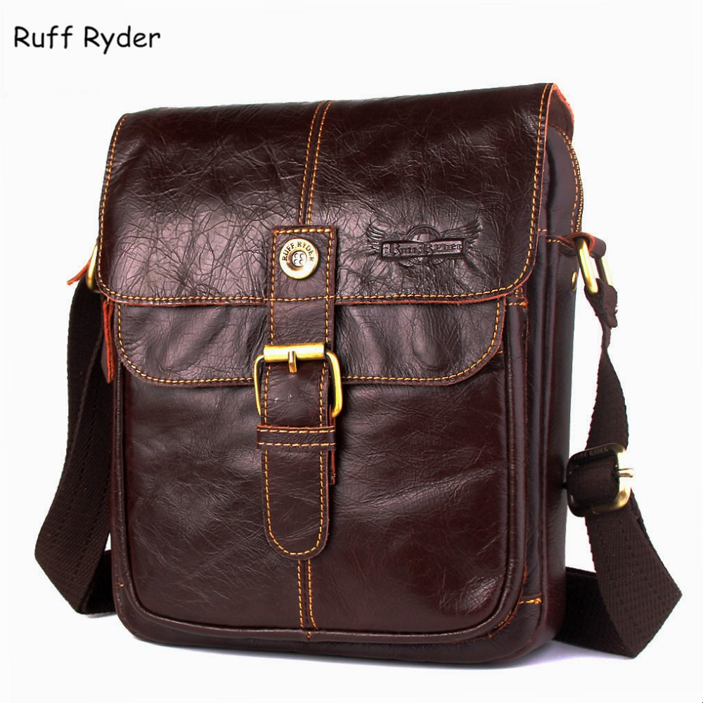 Ruff Ryder 2017 New Fashion Men Messenger Bags Shoulder Crossbody Bags Genuine Leather Men Bag Flap Mens Bag Leather Handbags<br>