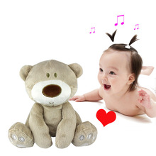 22cm soft Rattle Stuffed Plush Doll Toy bear Toys fingertips hand Puppet Animal windbell education puzzle gifts infant baby kids