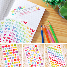 Colorful sticker decals funny toy sticker kids paper diary Journal Scrapbook Decorative laptop Sticker Classic Toys for Children(China)