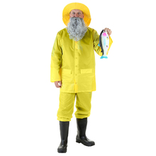 Unique Look Adult Bright Yellow Fisherman Extraordinary Costume For Halloween Party