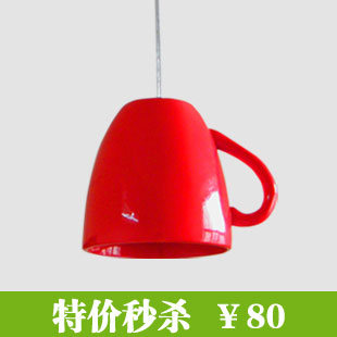 Now fashion personality teapot cup coffee cup pendant light pendant light<br><br>Aliexpress