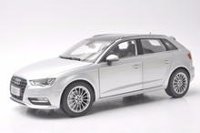 1:18 Diecast Model for Audi A3 Sportback Silver SUV Alloy Toy Car Collection Gifts(China)