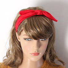 1pc Women Girls Headbands Cute Rabbit Ears Bow Hair Bands Cloth Headband Bowknot Headwear Hair Accessories the cheapest products(China)