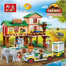 building block set compatible with lego National Zoo base camp 3D Construction Brick Educational Hobbies Toys for Kids