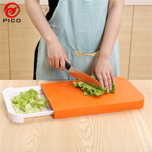 2 in1 ECO-FRIENDLY PP Cooking tools creative cutting board kitchen multifunctional Storage chopping board planche a couper ZL05(China)