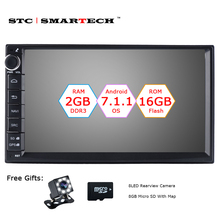 SMARTECH 2 Din Android 7.1 Car Radio GPS Navigation Autoradio System Quad Core 2GB RAM 16GB ROM Support Video Out DVR OBD DAB(China)