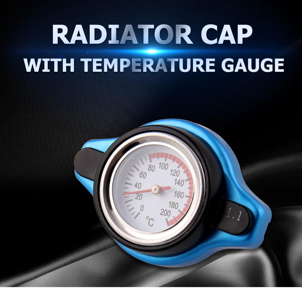 D1 THERMOSTATIC GAUGE RADIATOR CAP 1.1 BAR SMALL HEAD UPRATED BLUE