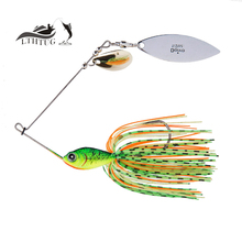 2017 New Metal Spinnerbait Hard Fishing Jig Head Fishing Lures 20g 31g Spinner Bait Spinners Spoon Bait Pesca Isca Artificial