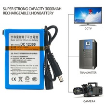 Super Strong Capacity 3000MAH Rechargeable Li-ion Battery Portable Size Replacement Li-ion Battery Pack For CCTV Camera