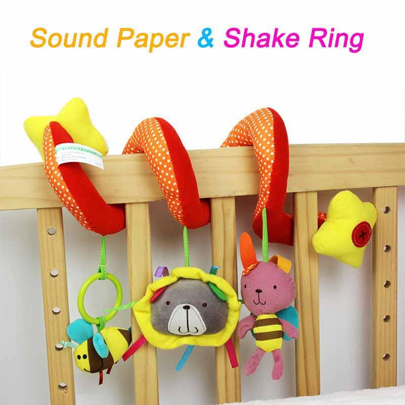 Spiral Stroller toy rattle baby toy
