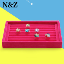 Free Shipping,Wholesale New Rose Red color Jewelry Rings Display Show Case Organizer Tray Box()
