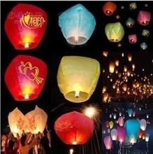 Free Shipping Chineses Lantern Sky Lantern Kongming Lantern Flying Wishing Lamp Wedding Party Paper Lights(700 pcs/lot) 7 color