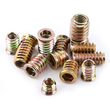 20pcs/set M6 M8 Hex Socket Drive Insert Screws Carbon Steel Threaded Screw Fastener Hardware For Wood Furniture