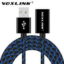 VOXLINK USB Male to Female Extension Cable Nylon 1M 3FT /2M3M 10FT/5M USB Charging Extension Cord Extender For iphone PC Laptop(China)