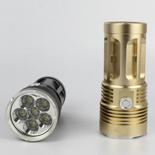 King CREE XM-L 3*T6 / 4*T6/ 6*T6/ 7*T6 30W Cree Led Torch Spotlight Cree LED Flashlight Torch Light For 4x18650