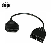 Best Quality OBD2 Cable GM Daewoo 12 pin 16 Pin Connector Adapter 12pin 16pin - OBDDIY Store store