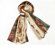 1 PC Retro Women Lady Cotton Soft Cool Long Carriage Scarf Large Wrap Shawl Scarves(China)