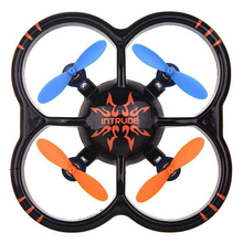 LCLL-U207 6 Axis Gyro 4CH Radio Controll mini Black Quadcopter UFO Toy with LED Light