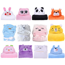 Buy Baby Bath Towel Lovely Animal Flannel Cartoon Kid's Hooded Bath Towels Soft children's towel Animal Shape Hooded Bath Towel for $7.43 in AliExpress store