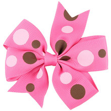 12pcs 3inches Printed Ribbon Hair Bows Clips for Teens Little Girls Hair,Zebra Leopard Spots Stars Pattern(China)