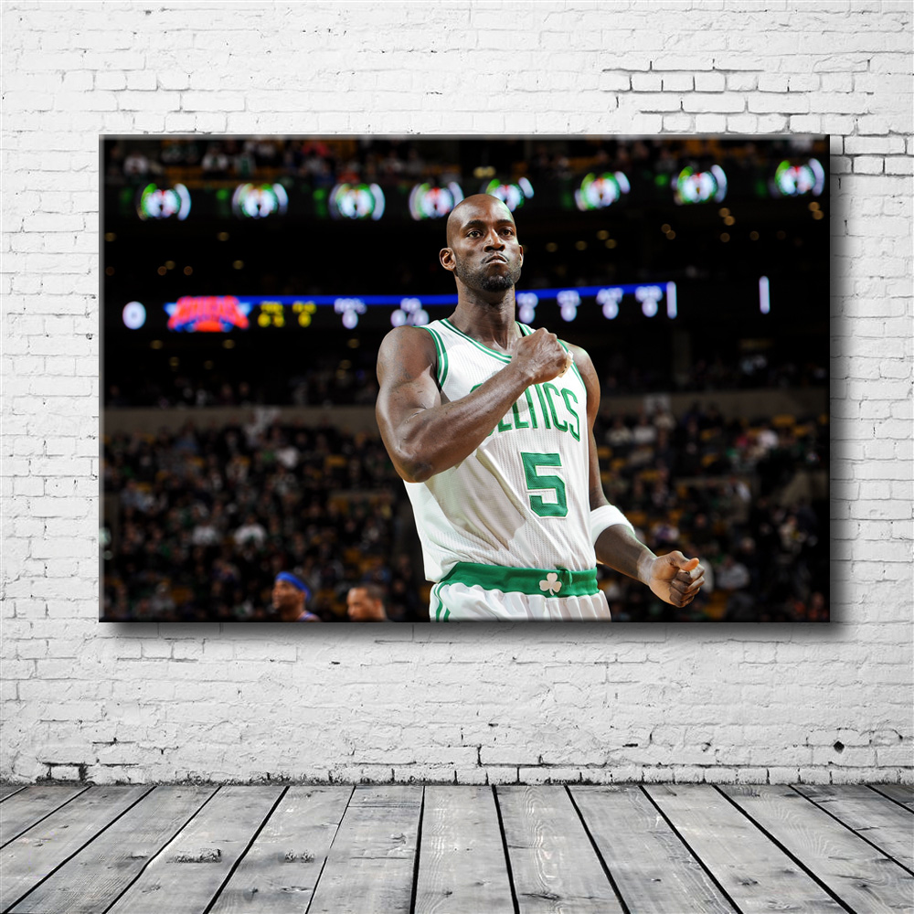 Boston Celtics Kevin Garnett Basketball Poster Canvas Print for Room Decoration(China)