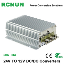 High Quality 24 Volt to 12 Volt 60A DC-DC Converters Step Down DC 24V to DC 12V 50 Amp Buck Module for Automobile CE RoHS(China)