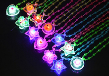 84PCS Acrylic LED Necklace Light Up Necklace Toys Children Kids Novelty Flashing Halloween Club Pub Birthday Halloween Party(China)