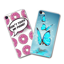 "Grid Cartoon Painted Hard Plastic Cute Phone Cases Meizu U10 4G LTE MTK 6750 Octa Core Case Cover fundas Meizu U10 U 10 5""+Gift"