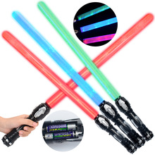 67cm Cosplay Star Wars Lightsaber with Light Sound Led Red Green Blue Saber laser Sword Toys kid Christmas Gifts Game(China)