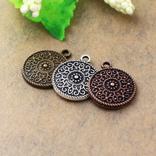 14pcs 20*17mm Antique Tibetan Silver Copper Bronze Plated Charms Pendants Bracelet Necklace Accessories Lovely Fashion Flowers