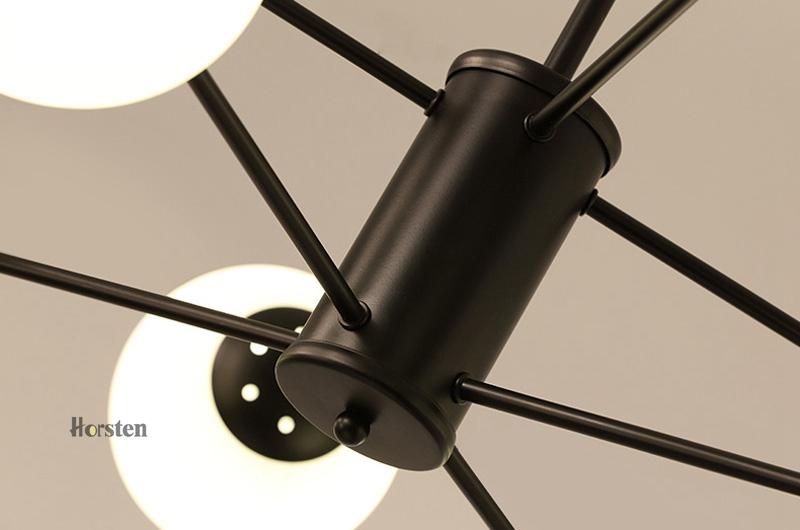 Horsten Nordic Creative Magic Bean Pendant Lights 6812 Heads Glass Ball Pendant Lamp For Living Dining Room Cafe Restaurant E27 (17)
