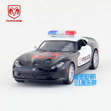 Free Shipping/KiNSMART Toy/Diecast Model/1:36 Scale/2013 Dodge SRT Viper GTS Police/Pull Back Car/Educational Collection/Gift