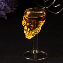 SOLEDI Bones Armor Skull Designed High Wine Glass Goblet Cup Barware Drinkware skull glass verre caneca Transparent