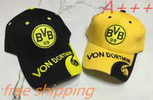 2017 Top quality for Borussia Dortmund Adjustable cotton football club badge caps BVB Souvenirs Gifts soccer Shower caps hat