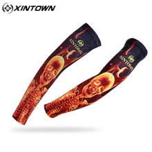 XINTOWN Skull Sleeves Ciclismo Arm Covers Men MTB Bicycle Cycling Arm Warmers Mountain Bike Armwarmers(China)