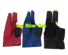 Free shipping 40pcs/lot high stretch 3 finger billiard gloves/Pool Table Snooker shooters billiard table 3 finger 9-ball Glove(China)