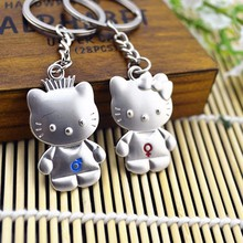 1 Pair Wedding favors and gift Hello Kitty keychain for lovers bridal shower souvenirs for guests birthday party supply kids
