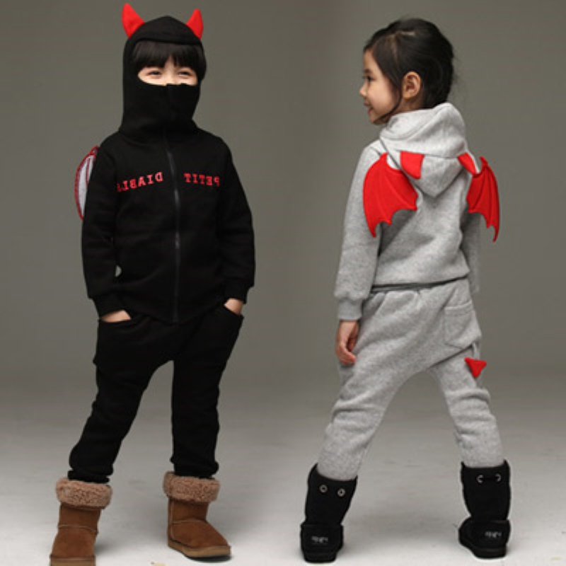 Baby boy girl clothing sets 2017 autumn winter Children Long Sleeve  Hooded Jacket+Pants 2PCS childrens Kids Sports Clothes Set<br>