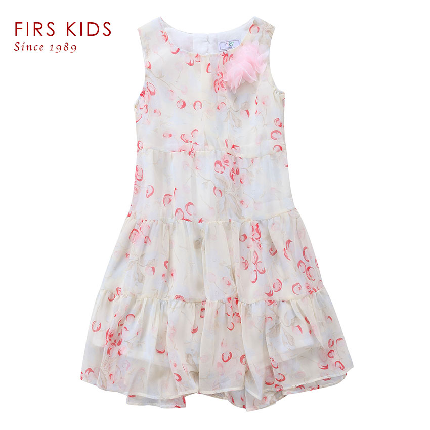 FIRS KIDS Summer Dress 2017 Dresses For Girls of 4-12 years Sleeveless Printed Big Size Princess Dress Teenagers Kids Clothes<br><br>Aliexpress