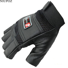 Thin Tactical PU Leather Gloves Men Outdoor Half Finger Sports Gloves Antiskid Bicycle Gloves Fingerless Gym Gloves Luva G41(China)