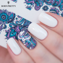 BORN PRETTY Blooming Flower Nail Art Water Decals Transfer Sticker 2 Patterns/Sheet BP-W19 #20610(China)
