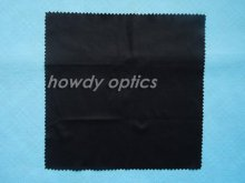 Free Shipping! Black microfiber cleaning cloth 20x20cm eyewear cleaning cloth lens cloth(China)