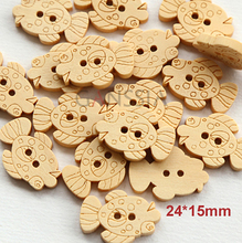 Min.order is $12(mix order button)New cute goldfish design wooden buttons.bulk buttons,sewing accessories,wholesale(SS-477)