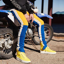 HZIJUE 2018 primavera Hip Hop Casual Track pantalones moda Streetwear  pantalones Color bloque Patchwork Harem pantalones ad535327863
