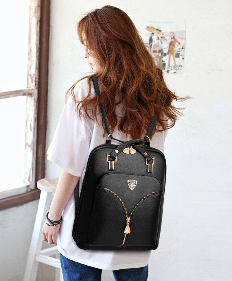 Nevenka Anti Theft Leather Backpack Women Mini Backpacks Female Travel Backpack for Girls School Backpacks Ladies Black Bag 201823