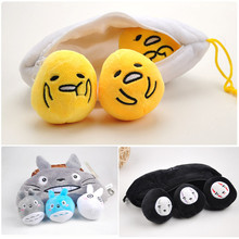 Anime My Neighboor Totoro No Face Yolk Bros Gudetama Egg Plush Pendant Toys Peluche Doll Brinquedos Gift 3 Sets 24cm
