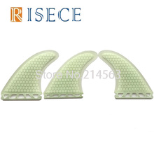 G3/G5/G7 3 Sizes Fiberglass Surfboard Fins Clear White Honeycomb Surfboard Fin Thruster Future Surf Fin(China)